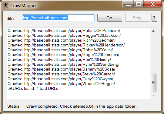 CrawlMapper Screen shot