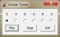 Click to view Guitar Tuner 1.01 screenshot