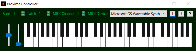 Keyboard controller for playing MIDI devices.