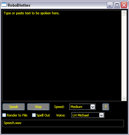 RoboBlather Screenshot