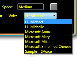 Voice List on Windows Vista