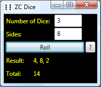 ZC Dice Screen shot