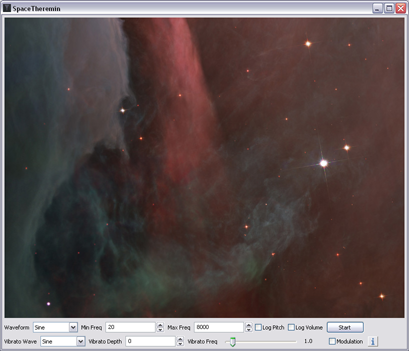 SpaceTheremin Screenshot